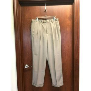 Perry Ellis Men Portfolio Taupe Pants Size 36x33